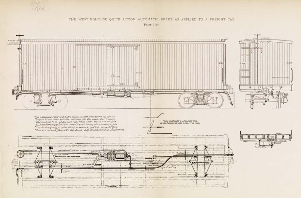 medium resolution of  i the westinghouse quick action automatic brake as applied to a freight car plate d80 m w 4 m tv u v f w v v i evj