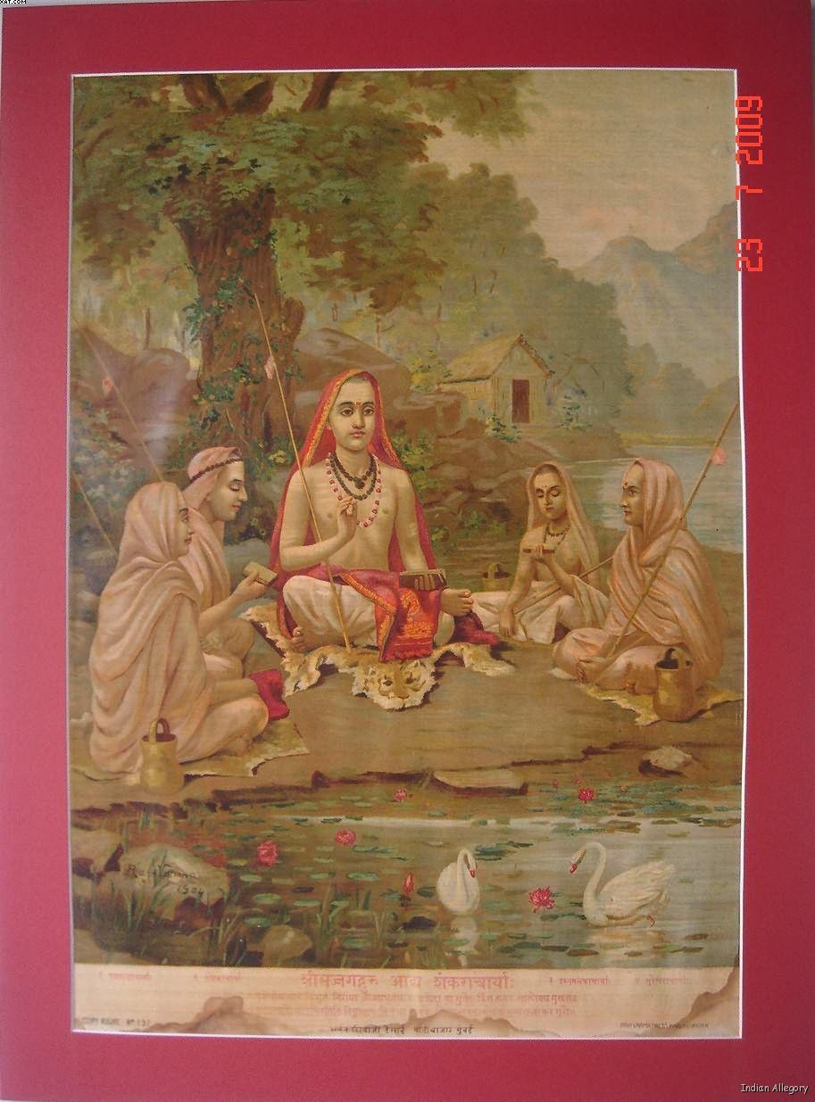 Adi Shankara with companions