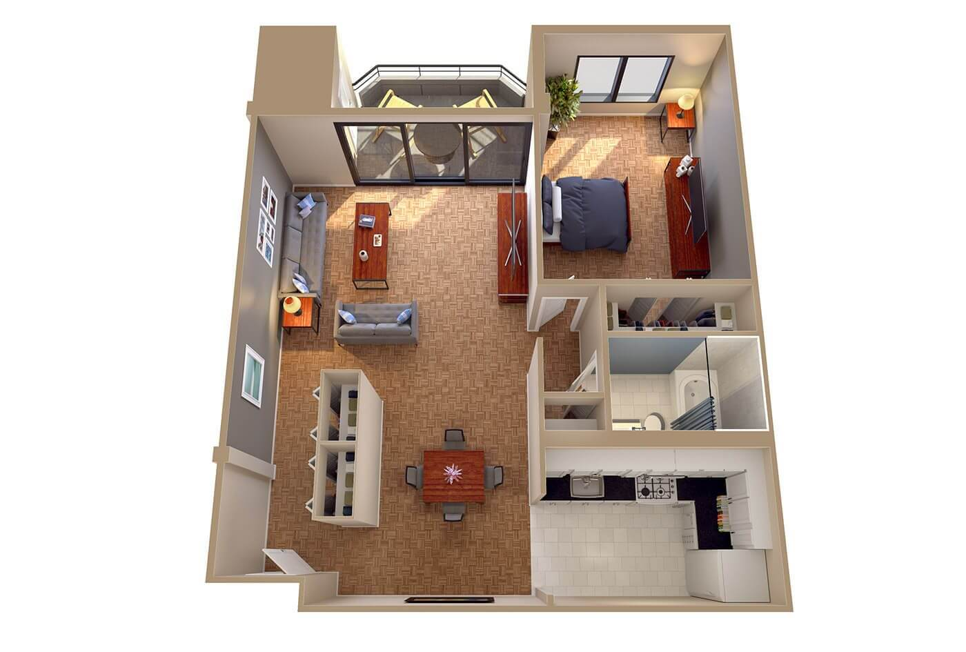 Ambassador Apartments Floor Plans  Columbia Plaza