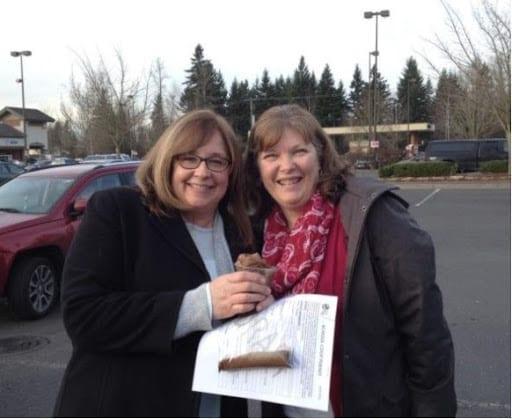 Carolyn Blain and Renee Fern