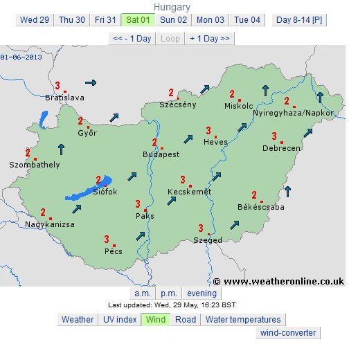harta vant ungaria sambata 1 iunie