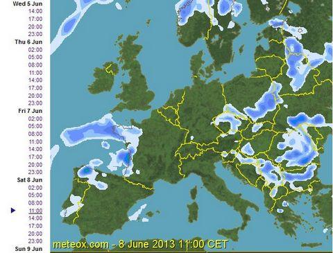 prognoza vremii pentru 8 iunie 2013 ora 11