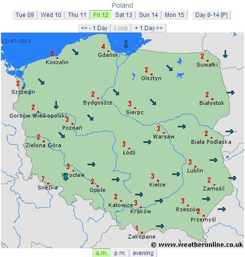 polonia 12 iulie 2013 directie vant dimineata