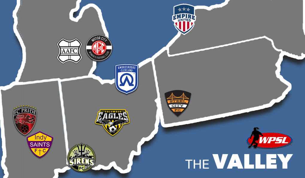 The WPSL Valley division includes nine teams in 2018