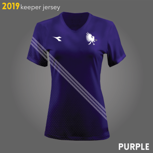 Columbus Eagles FC's purple goalkeeper kits for 2019 | Designs by Larissa Najjar