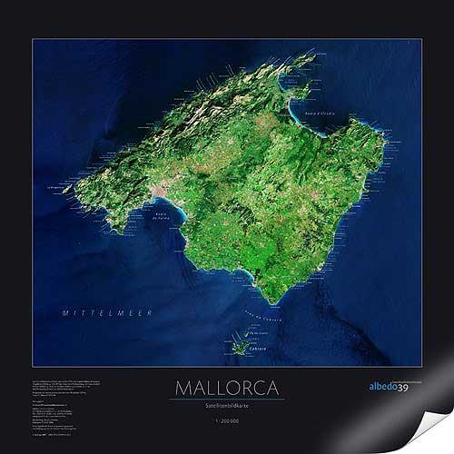 mallorca karte oder landkarte mallorca