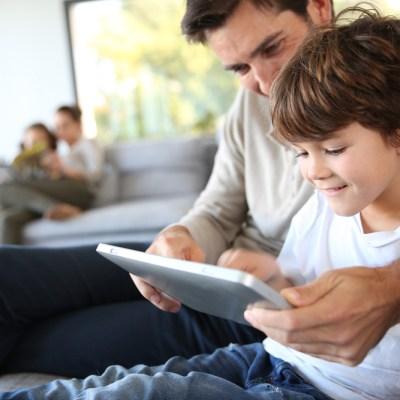 parents child kid tablet