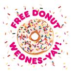 Free Dunkin' Donut on Wednesdays for DD Perks Members