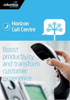 Image of Horizon Call Centre brochure cover