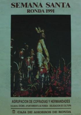 Cartel de la Semana Santa de 1991 con la imagen de nuestro Titular.