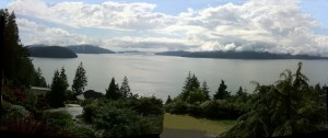 View from Serenity Cabin at Howe Sound, British Columbia
