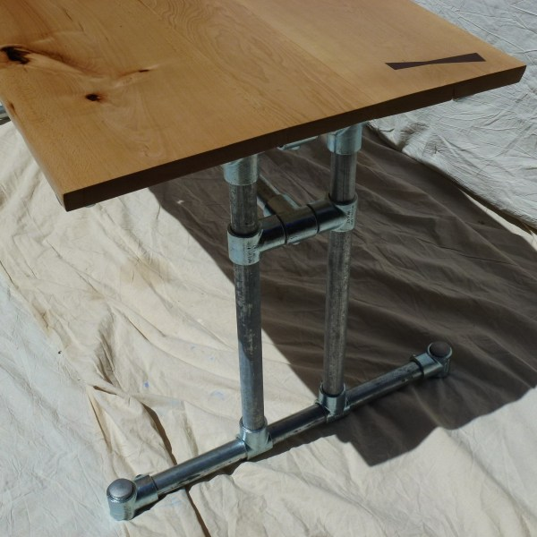 Live Edge Dining Table with industrial steel frame