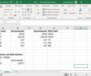 Excel/Windows 10: Hexadezimale Zahlen in Dezimalzahlen umwandeln