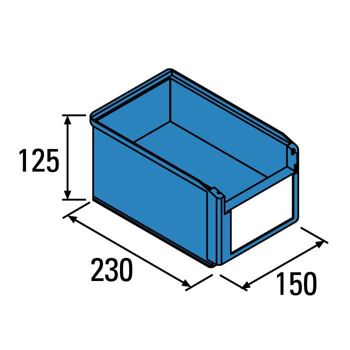 Caja plstica para almacn serie Openbox SK BCBG43626