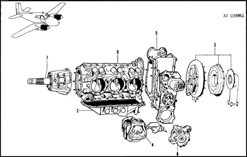 Lycoming 0-480-3 6 cyl engine