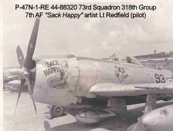 5th And 7th Air Force Nose Art Shima 1945