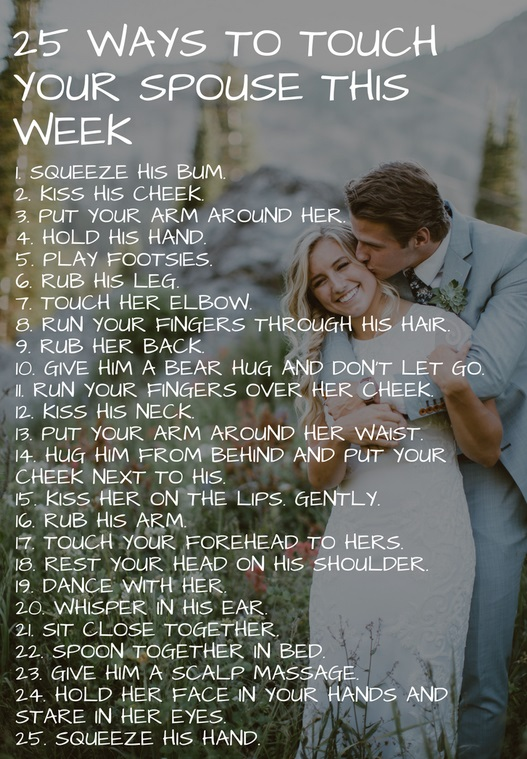 25 Ways to Touch Your Spouse