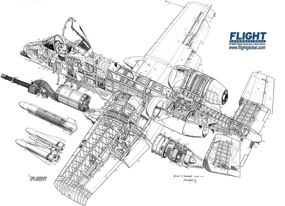 Aircraft Cutaway Drawings