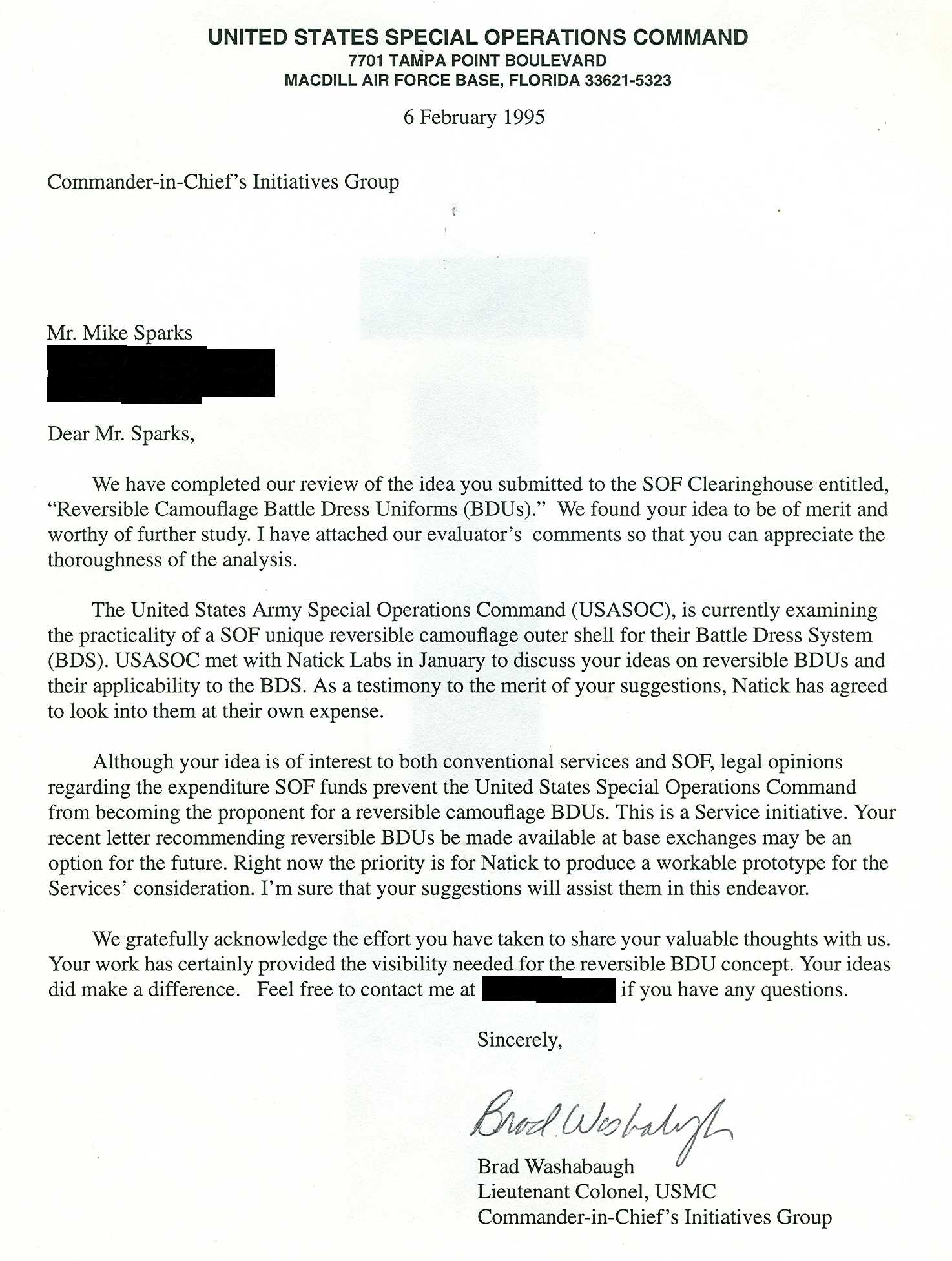 Air Force Letter Of Recommendation For Special Duty Assignment