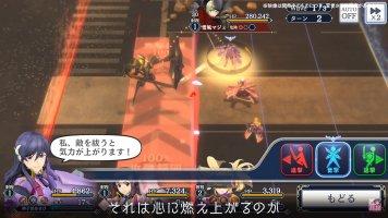 Still from Sakura Revolution that features an overhead shot of a strategy battle segment