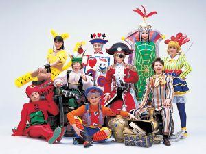 Cast Photo for Sakura Wars Super Kayo Show: Shin Takarajima, which features the main players in costume.