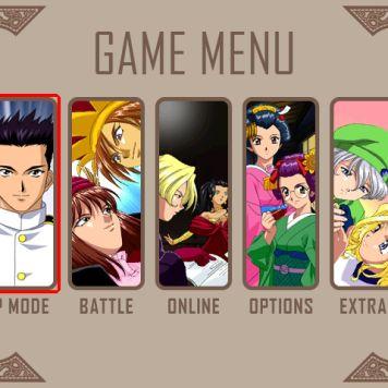 Text from the main menu in Sakura Wars: Hanagumi Taisen Columns 2.