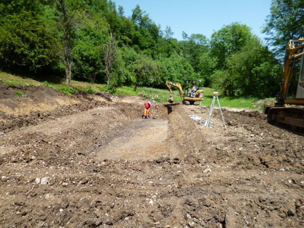 Projet de SNEP: creusage de la fosse