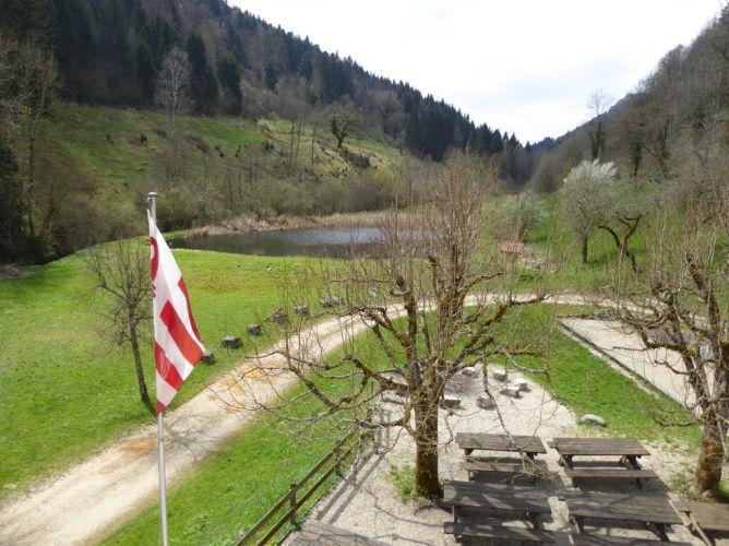 Vue sur l'étang et la Combe Tabeillon