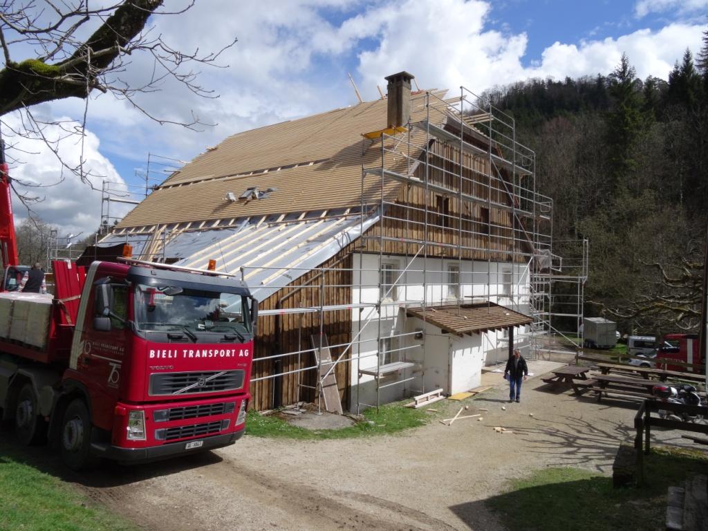 Réfection du toit: vue nord