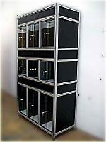 Structures en profil aluminium  montages modulaires livrs en kits COMBINALU