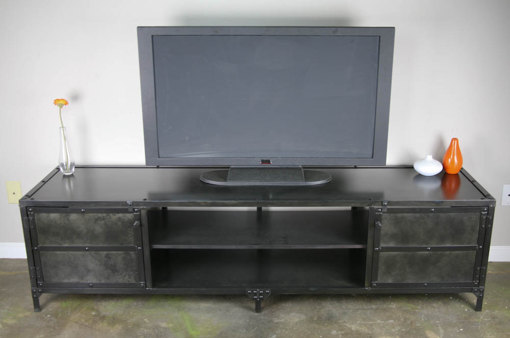 kitchen hutch buffet home depot financing remodel combine 9 | industrial furniture – steel media console ...