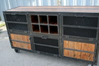 Combine 9   Industrial Furniture  Rustic Bar Cart, Liquor ...