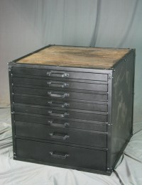 Combine 9 | Industrial Furniture  Vintage Metal Flat File ...