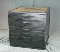 Combine 9   Industrial Furniture  Vintage Metal Flat File ...