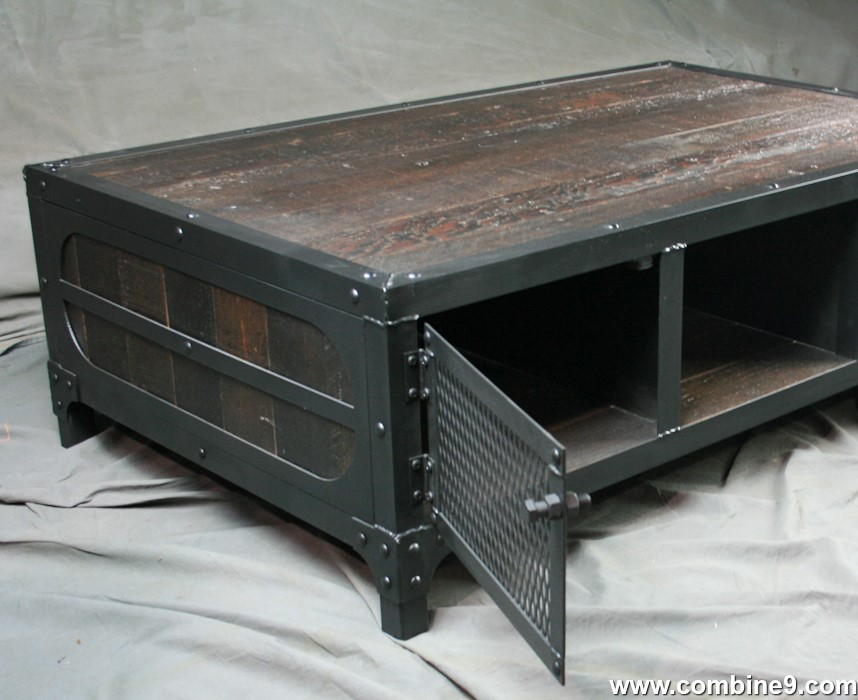 Combine 9 Industrial Furniture Reclaimed Wood Coffee