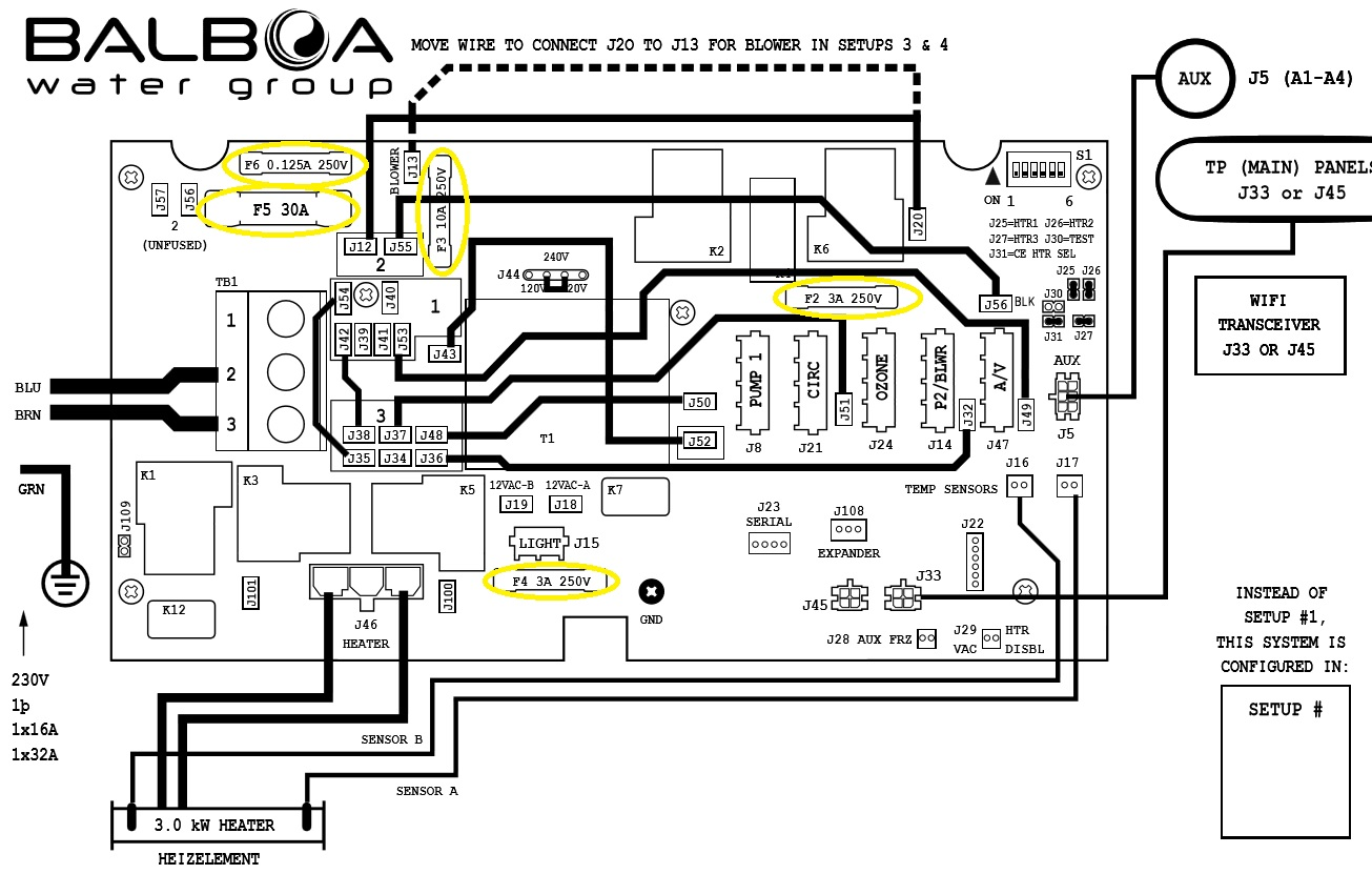 Hot Tub Control Panel Wiring Diagram
