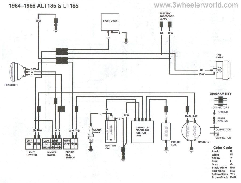 kawasaki 220 4 wheeler electrical wiring diagrams
