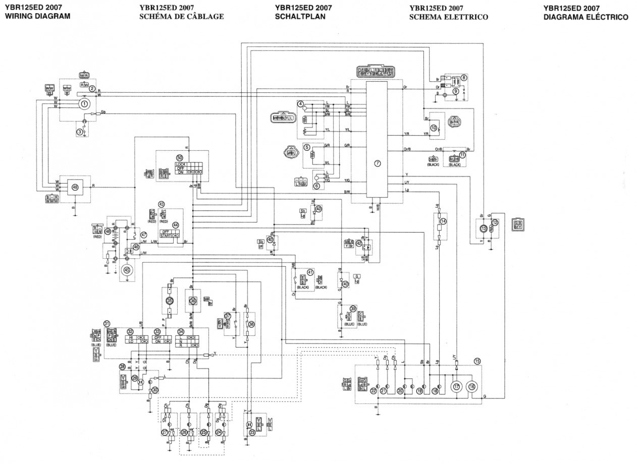 Schema Electrique Yamaha Xtx 125