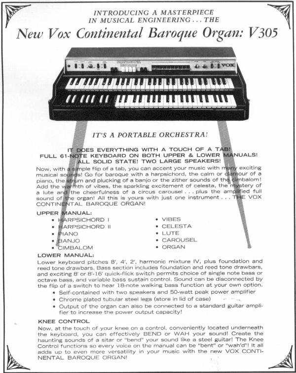 Combo Organ Heaven: Vox-Dual Manual