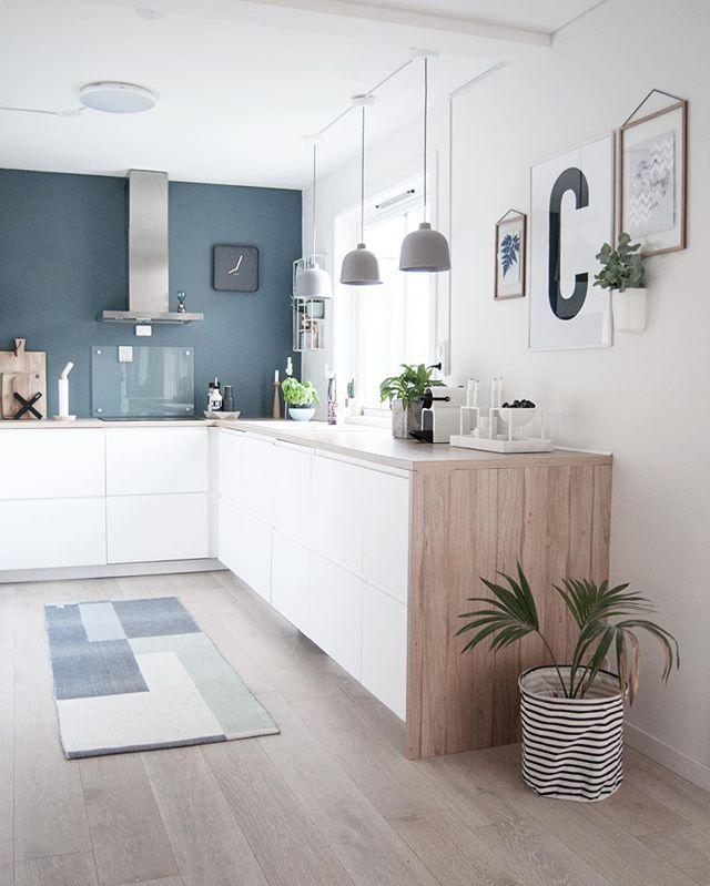 Ambiance bord de mer garantie ! Photo cuisine blanc et bleu - Tout sur la cuisine et le ...