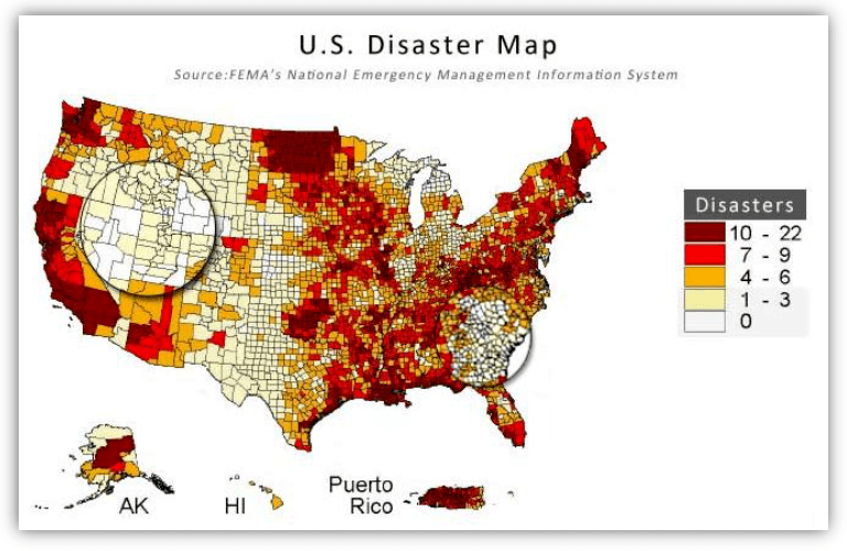 disaster zone low probability