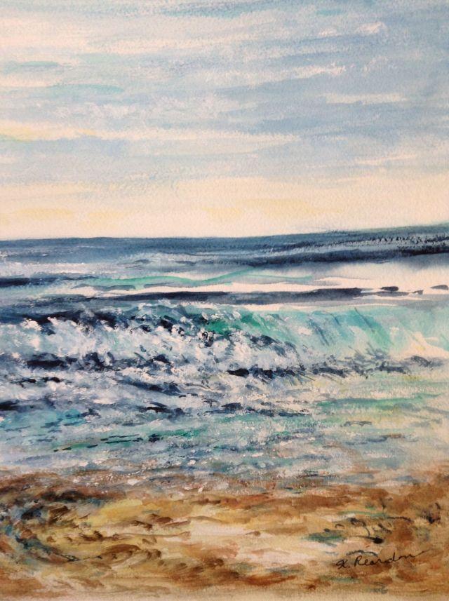 "Rolling Water 2 Watercolor 8"" x 10"""