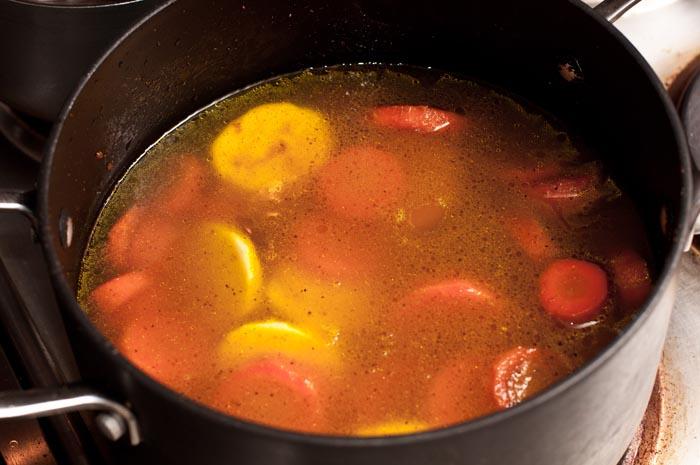 caldo de zanahoria y curry