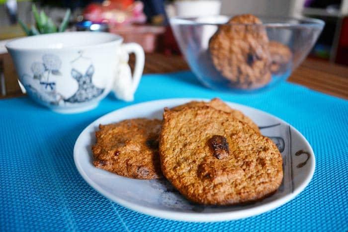galletas de avena con arandanos