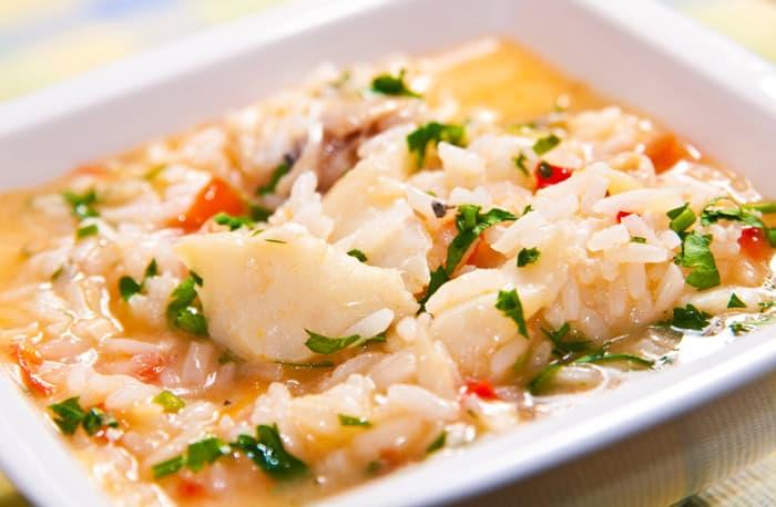 como hacer arroz con bacalao