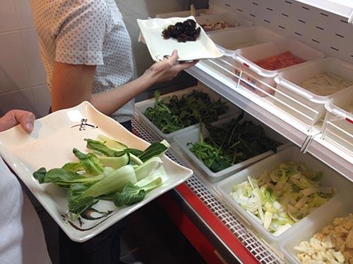 vegetales hot pot