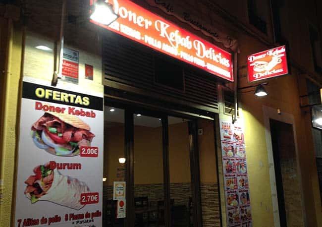 doner kebab delicias afuera