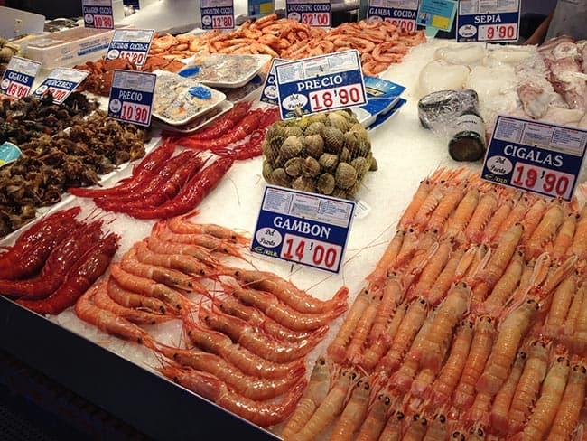 mariscos mercado de maravillas