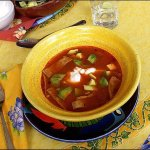 receta de sopa tarasca de Michoacan