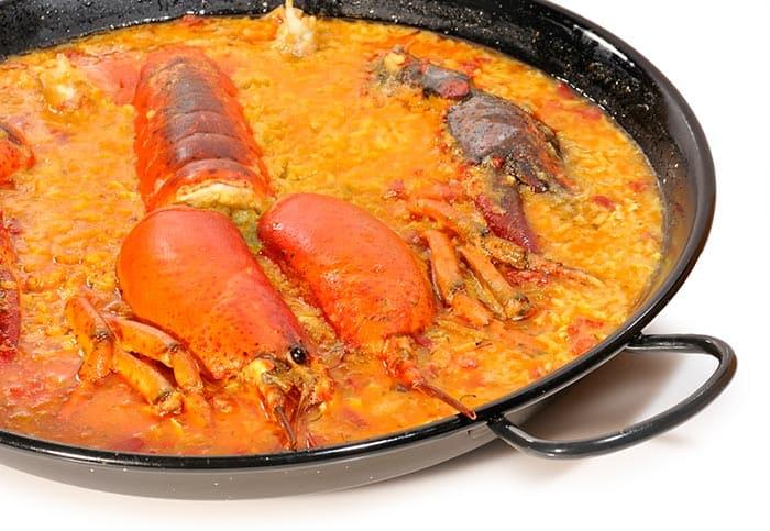 arroz con bogavante casero
